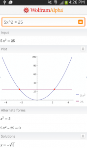 WolframAlpha Mathematics Application Screen Grab